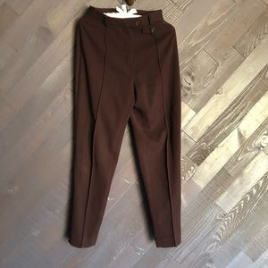 Burberry Vintage Maroon High Waisted Pants